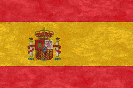 ageing: Spain flag on ageing paper