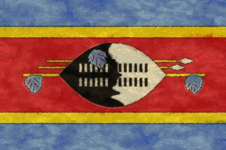 ageing: Swaziland flag on ageing paper