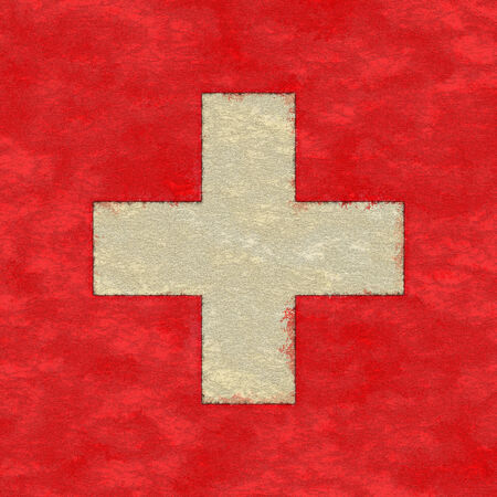ageing: Switzerland flag on ageing paper