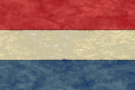 the netherlands: Netherlands flag on ageing paper Stock Photo