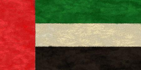 United Arab Emirates flag on ageing paper