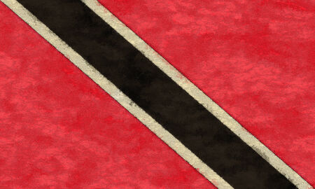 national flag trinidad and tobago: Trinidad and Tobago flag on ageing paper Stock Photo