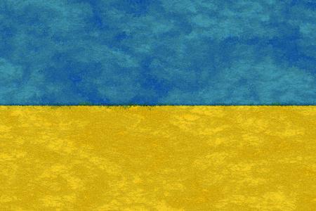 Ukraine flag on ageing paper