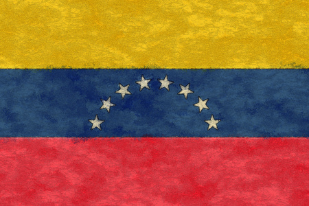ageing: Venezuela flag on ageing paper