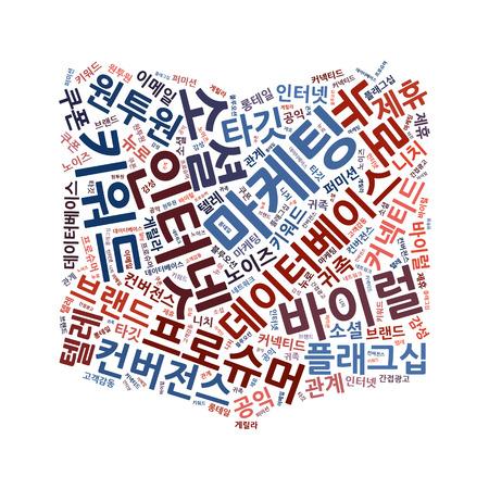 Korean Marketing Keyword Cloud photo