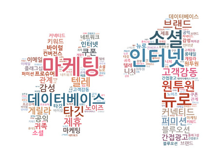 Korean Marketing Keyword Cloud Stock Photo - 25135093