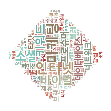 Korean Marketing Keyword Cloud Stock Photo - 25135097
