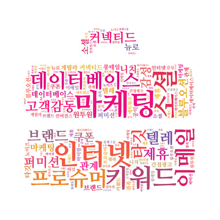 Korean Marketing Keyword Cloud photo