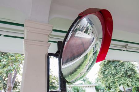 reflector: The mirror corner reflector on the walkway