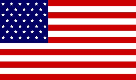 white star line: USA Nation flag Stock Photo