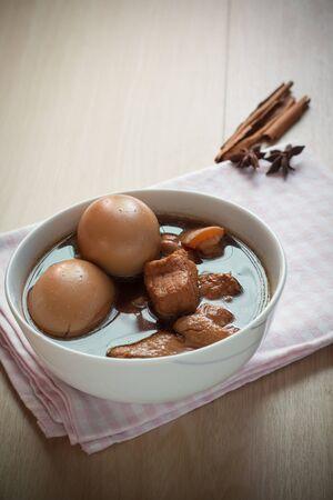 favorite soup: Eggs and pork in brown sauce,Thai food.