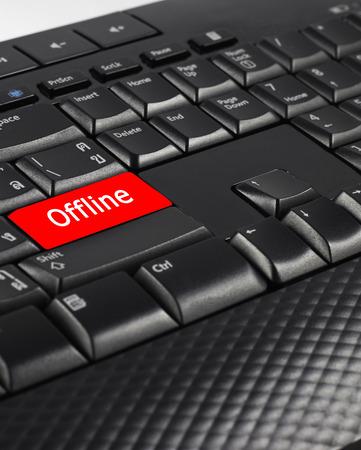 offline: Offline button on keyboard for saving energy.