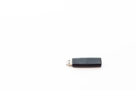 microdrive: Flash drive isolated on white background. Stock Photo