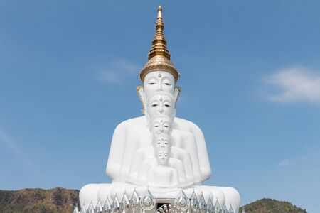 grand son: White buddha in Wat Phra That Pha Son Kaew temple at Phetchabun Thailand, They are public domain or treasure of Buddhism, no restrict in copy or use.