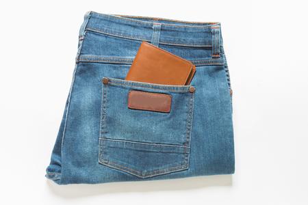 pickpocket: Wallet showing in back pocket of jeans.