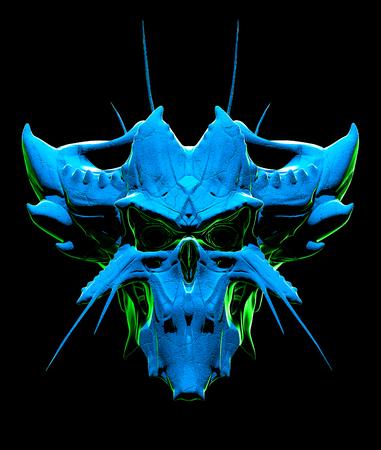 suspenso: Skull design on a black background for Halloween. Foto de archivo
