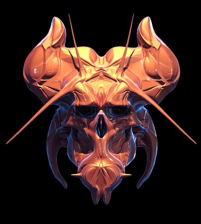 Skull design on a black background for Halloween. Stock Photo