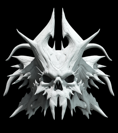 ghost rock: Skull design on a black background for Halloween. Stock Photo