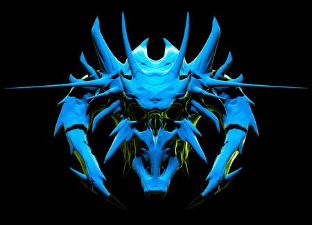 necromancy: Skull design on a black background for Halloween. Stock Photo