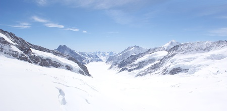 Great Aletsch Glacier, Jungfraujoch, Switzerland