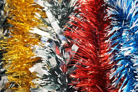 New year s tinsel  Background photo