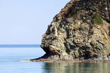affinity: Rock in the Bay of Cleopatra  Near Kemer, Turkey , spring 2013