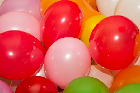 Background of colored baloons