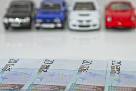 Buying a new car for cash  The choice of colors and models photo