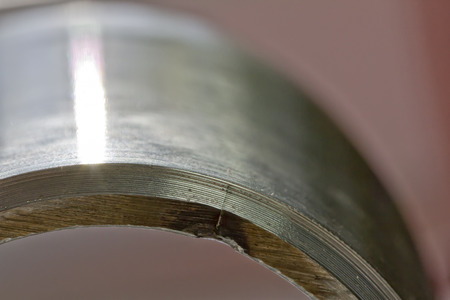 defects of the weld in stainless line item  photo