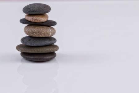 Pile of sea stones in balance photo