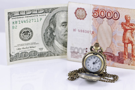 The weakening of the ruble exchange rate to the dollar photo