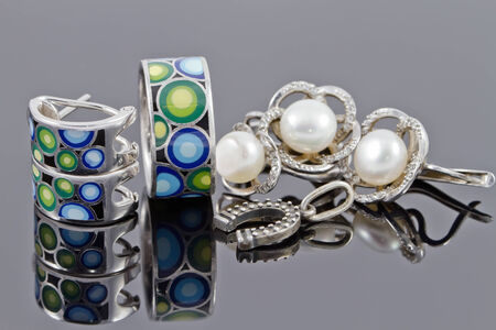 reflectance: jewelry set silver