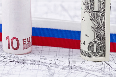 strengthening: strengthening of the Russian currency against the Euro and Dollar