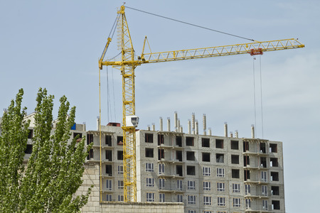 concrete commercial block: Construction of multi-storey buildings on monolithic technology