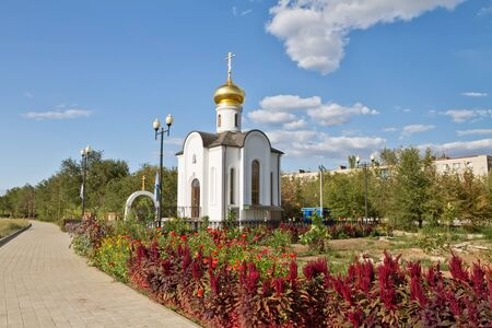 the righteous: temple of the Holy righteous Admiral Theodore Ushakov, Admiral of the Russian fleet Stock Photo