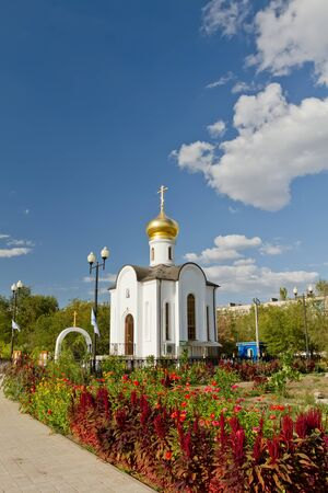 theodore: temple of the Holy righteous Admiral Theodore Ushakov, Admiral of the Russian fleet Stock Photo