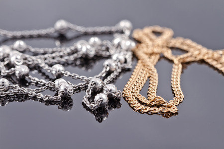 interlink: gold and silver elegant chain
