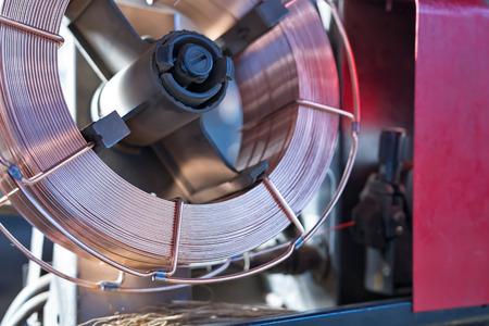 soldadura: Bobina de cobre recubierto alambre de soldadura para la alimentación en el aparato de soldadura semiautomática