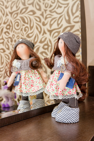 collectible: Collectible rag doll handmade with natural hair
