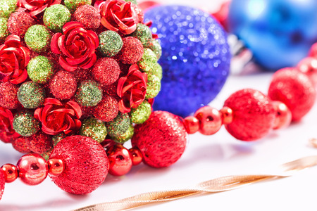 decorations for christmas trees and gold chain snake netting stock photo 49854736 - Christmas Chain Decorations