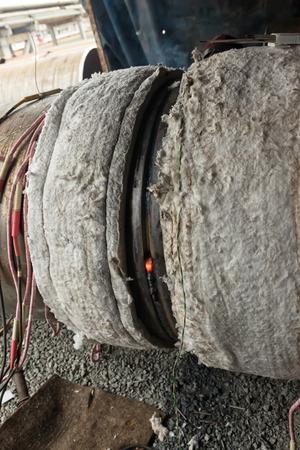 fabricator: Welding of weld cladding on large diameter pipe