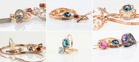Thematic collection of photos on the theme of jewelry with Topaz and rubies