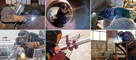 Thematic collection of photos on the topic of welding of parts and elements of pipelines