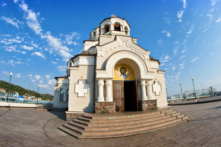 fasade: temple not made by hands image of Christ the Savior in Sochi