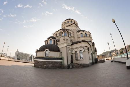 fasade: temple of Christ the Savior in Sochi