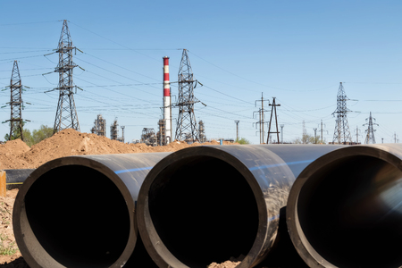 Installation works on replacement of oil refinery steel pipelines with thick-walled pipes made of polymeric materials
