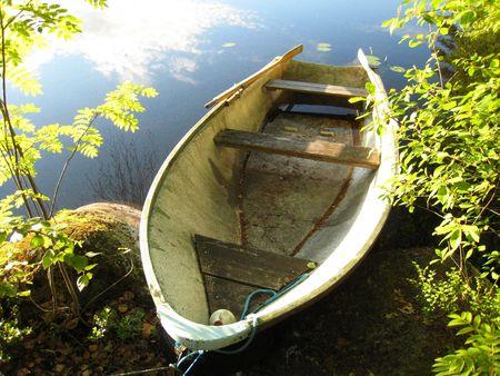 Abandoned Rowboat Imagens