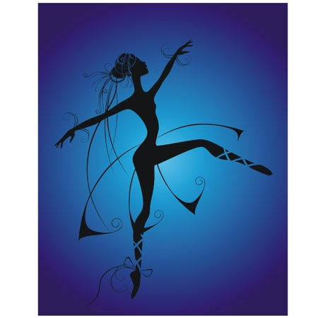 dancing girl on a blue background Stock Vector - 10226706