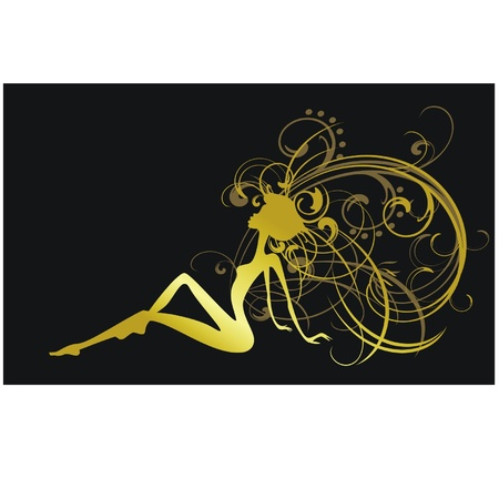 silhouette of a woman Vector
