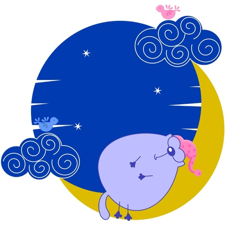 could: Fat cat sleeping on the moon